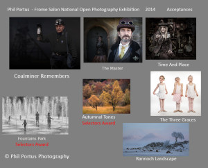 Phil Portus Frome Salon National Open Photography Exhibition  Accpts 2014-RESULTS
